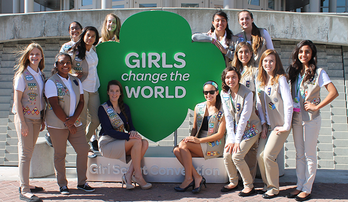 Girl Scouts San Diego girl delagates at the 2014 National Convention