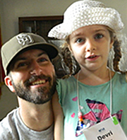 Dad and daughter with Autism