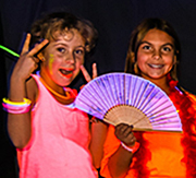 Ramona Girl Scouts glow dance