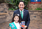 Mayor Todd Gloria and Girl Scout
