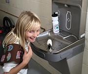 School water fountain donated by Brownie troop
