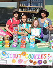 Girl Scout cookie booth sale