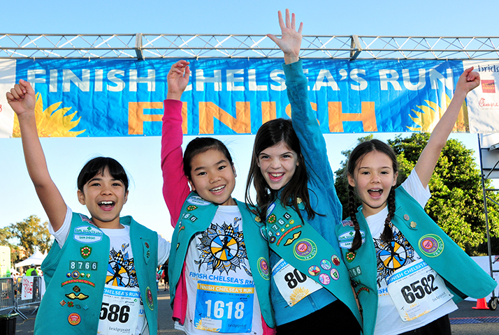 Finish Chelsea's Run Girl Scout runners